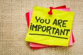 You are important reminder note — Stock Photo