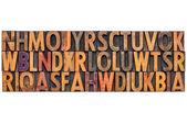 Letterpress alphabet abstract background — Stock Photo