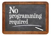 No programming required blackboard sign — Stock Photo