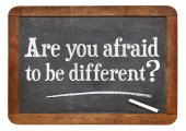 Are you afraid to be different? — Stock Photo