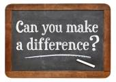 Can you make a difference - blackboard — Stock Photo