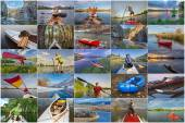 Collection of paddling pictures from Colorado — Stock Photo