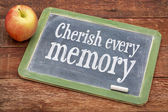 Cherish every memory on blackboard — Stock Photo