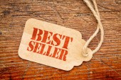 Bestseller sign  on a price tag — Stock Photo