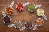 Superfoods -  seed, berry, powder and grain — Stock Photo