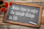 Make time to enjoy simple things — Stock Photo