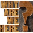 Why are we here question — Stock Photo #78534012