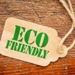 Eco friendly sign  on a price tag — Stock Photo #78819040