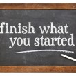 Finish what you started — Stock Photo #80881246