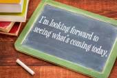 Positive affirmation phrase on blackboard — Stock Photo