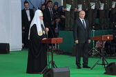 Vladimir Putin and Patriarch Kirill — Stock Photo