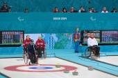 Wheelchair curling — Stock Photo