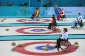 Wheelchair curling — ストック写真