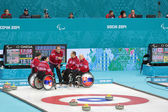 Wheelchair curling — Stok fotoğraf