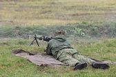 Machine gunner — Stock Photo