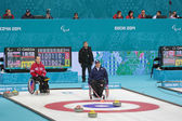 Wheelchair curling — Stockfoto