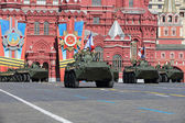 Military hardware on Red Square — Stock Photo