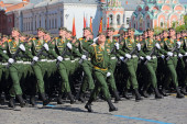 Soldiers on Victory Day in Moscow — Stock Photo