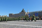 Special troops of the Victory Day in Moscow — Stock Photo
