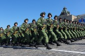 Special troops in Moscow — Stock Photo