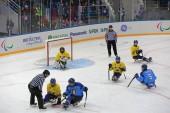 Sledge hockey — Stockfoto