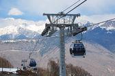 Ski lift in Rosa Khutor — 图库照片