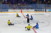 Sledge hockey — Stock Photo