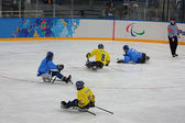 Paralympic winter games in ice Arena Shayba — Stock Photo