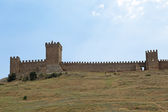 Genoese medieval fortress — Stock Photo