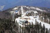 Alpine ski Resort Krasnaya Polyana — Stock Photo