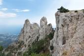 The top of the mountain Ai-Petri — Stock Photo