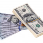 Stack is 100 dollar bills USD — Stock Photo #68562177