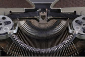 Machinery of an old typewriter — Stock Photo