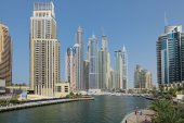 View on Dubai Marina Canal — Stock Photo