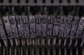 Typographic fonts old typewriter — Stock Photo