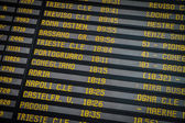 Departure board on the train station in Venice, Italy — Stock Photo