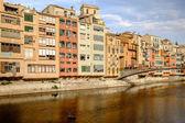 Onyar river at Girona — Stock Photo