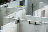 New walls being erected on a construction site — Stock Photo