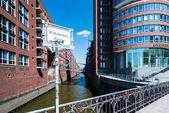 Hafencity and Speicherstadt in Hamburg — Stock Photo