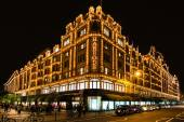 Harrods department store in London at night — Stock Photo