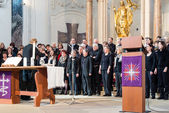Chór Kościoła podczas nabożeństwa — Zdjęcie stockowe