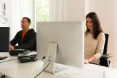 Office people being absorbed in their work — Stock Photo
