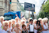 Marilyn Monroes on Christopher Street Day 2015 in Stuttgart, Germany — Stock Photo