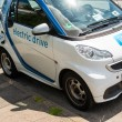Car-sharing electric Smart is being recharged — Stock Photo #79301422