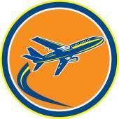 коммерческий реактивный самолет авиакомпании Летающие ретро — Cтоковый вектор