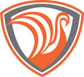 Swan Viking Ship Shield Retro — Stock vektor
