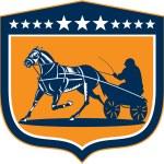 Horse and Jockey Harness Racing Shield Retro — Stock Vector #53079299