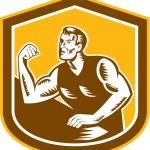 ������, ������: Arm Wrestling Champion Woodcut Shield