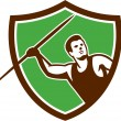Постер, плакат: Javelin Throw Track and Field Athlete Shield