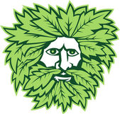 Green Man Front Isolated — Stock Vector